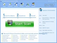 Microsoft Drivers Download Utility 3.5.0 Screenshot