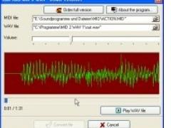 MID 2 WAV 1.0 Screenshot