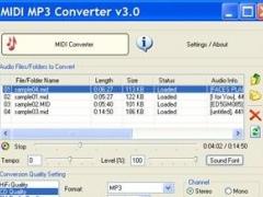 MIDI MP3 Converter 4.51 Screenshot