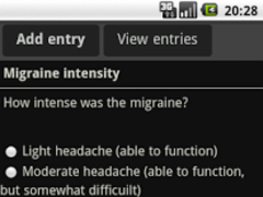 migraineDiary 0.1 Screenshot