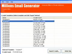 Millions Email Generator Platinum 7.0.0.525 Screenshot