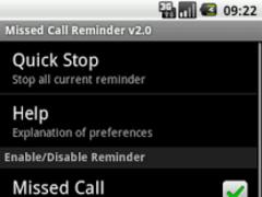 Missed Call Reminder 2.1 Screenshot