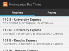 Mississauga Bus Times 0.9.15 Screenshot