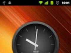 MIUI Dark Analog Clock Widget 1.5 Screenshot
