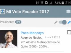 MiVoto Ecuador 2017 0.0.10 Screenshot