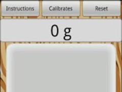 Precision digital scale  Screenshot