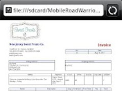 Mobile Road Warrior 3x Invoice 3X Screenshot