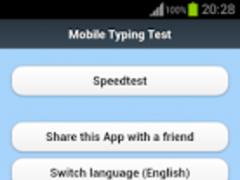 Mobile Typing Test 1.1 Screenshot
