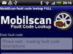 MobilScan DTC lookup 1.0 Screenshot