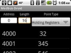 Modbus-Droid 1.0 Screenshot