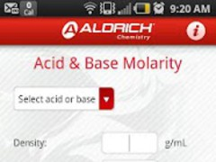 Molarity Calculator 1.01 Screenshot