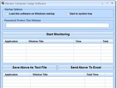 Monitor Computer Usage Software 7.0 Screenshot