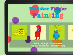 Monster Finger Painting 1.1 Screenshot