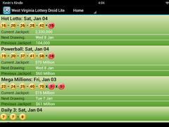 Montana Lottery Droid Lite 1.21 Screenshot