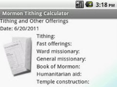 Mormon Tithing Calculator 2 11 Free Download