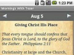 Mornings With Tozer Devotional 1.0.2 Screenshot