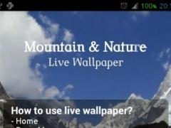 Mountain Nature Live Wallpaper 1.2 Screenshot