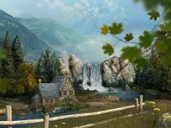 Mountain Waterfall 3D Screensaver 1.1 Screenshot