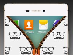 moustache Zipper Lock Screen 1.0 Screenshot