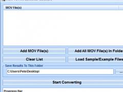MOV To AVI Converter Software 7.0 Screenshot