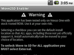 Move2SD Enabler (root only) 0.9.6 Screenshot