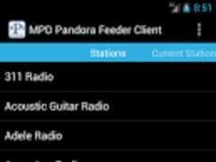 MPD Pandora Feeder Client 1.0.1 Screenshot