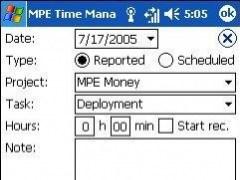 MPE Time Management 1.2.2 Screenshot