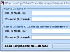 MS Access Copy Tables To Another Access Database Software 7.0 Screenshot