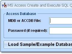 MS Access Create and Edit SQL Queries Software 7.0 Screenshot