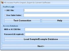 MS Access FoxPro Import, Export & Convert Software 7.0 Screenshot