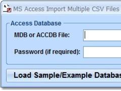 MS Access Import Multiple CSV Files Software 7.0 Screenshot