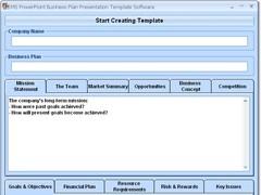 MS PowerPoint Business Plan Presentation Template Software 7.0 Screenshot