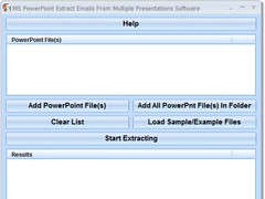 MS PowerPoint Extract Emails From Multiple Presentations Software 7.0 Screenshot