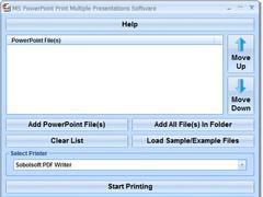 MS PowerPoint Print Multiple Presentations Software 7.0 Screenshot