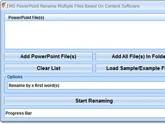 MS PowerPoint Rename Multiple Files Based On Content Software 7.0 Screenshot