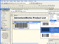 MS SQL Reporting Services Barcode .NET 8.0 Screenshot