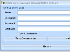 MS SQL Server Automatic Backup & Restore Software 7.0 Screenshot