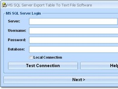 MS SQL Server Export Table To Text File Software 7.0 Screenshot