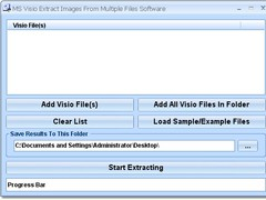 MS Visio Extract Images From Multiple Files Software 7.0 Screenshot