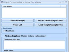 MS Visio Find and Replace In Multiple Files Software 7.0 Screenshot