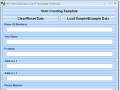 MS Word Business Card Template Software 7.0 Screenshot