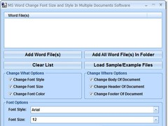 MS Word Change Font Size and Style In Multiple Documents Software 7.0 Screenshot