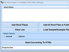 MS Word Export To Multiple HTML Files Software 7.0 Screenshot