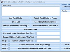 MS Word Extract Data & Text From Multiple Documents Software 7.0 Screenshot