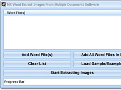 MS Word Extract Images From Multiple Documents Software 7.0 Screenshot
