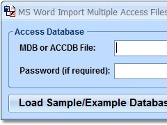 MS Word Import Multiple Access Files Software 7.0 Screenshot