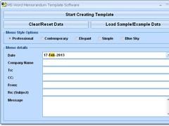MS Word Memorandum Template Software 7.0 Screenshot