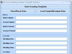 MS Word Wedding Invitation Template Software 7.0 Screenshot
