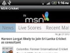MSN Cricket 1.1 Screenshot