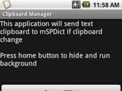 mSPDict clipboard manager 1.2.1 Screenshot